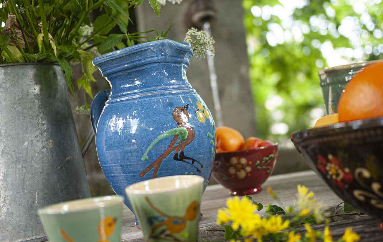 pichet oiseau poterie annecy savoie