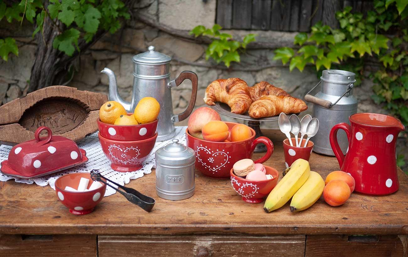 serice poterie tradition petit dejeuner