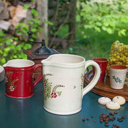 pichet a fleur poterie savoie