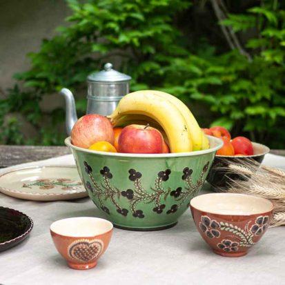 saladier fleur savoie poterie